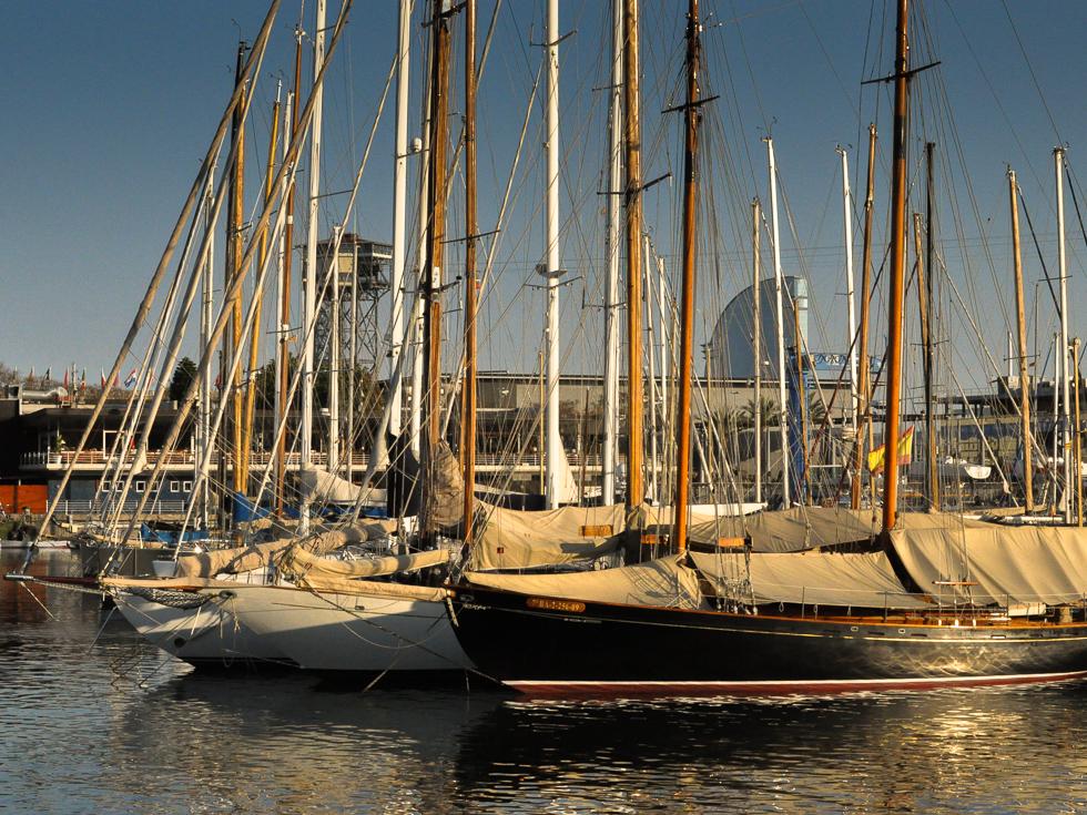 Barcelona - Blick auf den Hafen