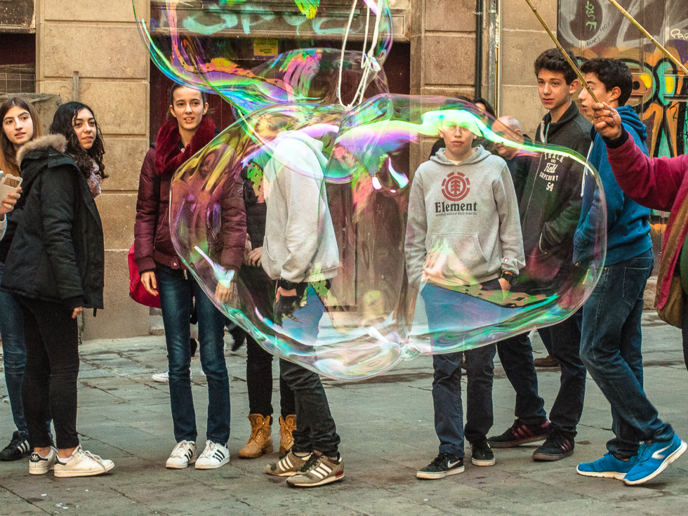Barcelona - Riesenseifenblase