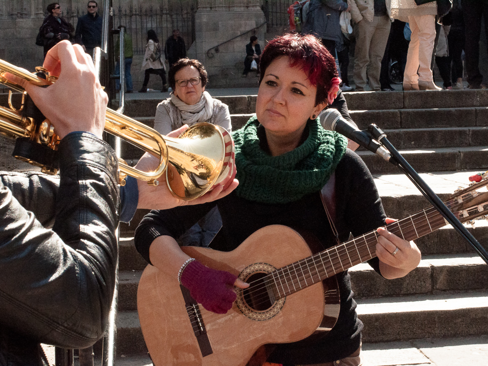 Barcelona - Staßenmusikanten