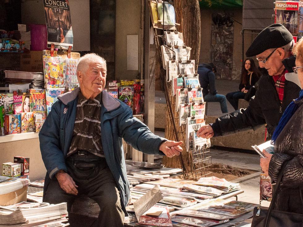 Barcelona - Zeitungsverkäufer