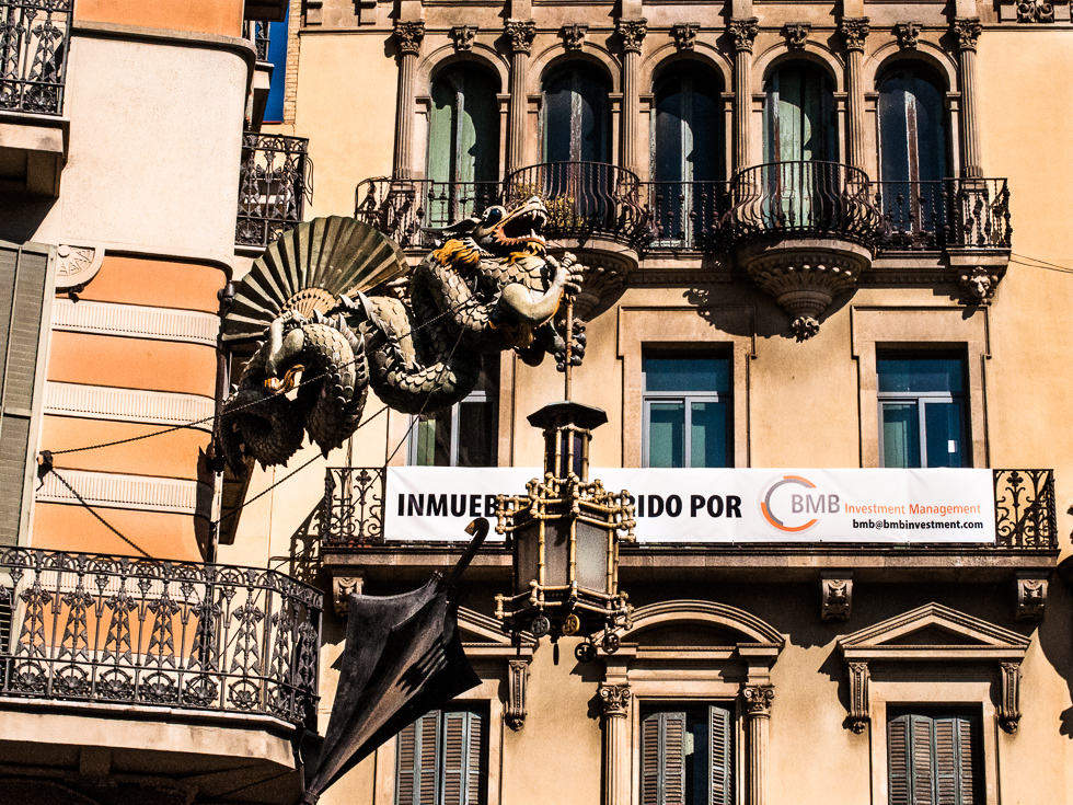 Barcelona - asiatischer Drachen