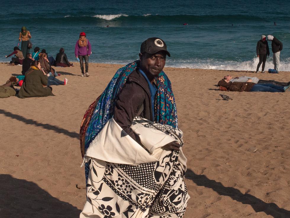 Barcelona - der Tuchverkäufer