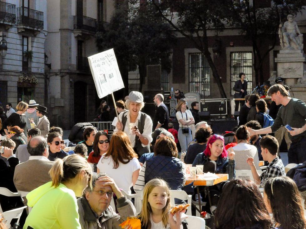 Barcelona - fete vor der Basílica de la Mercè