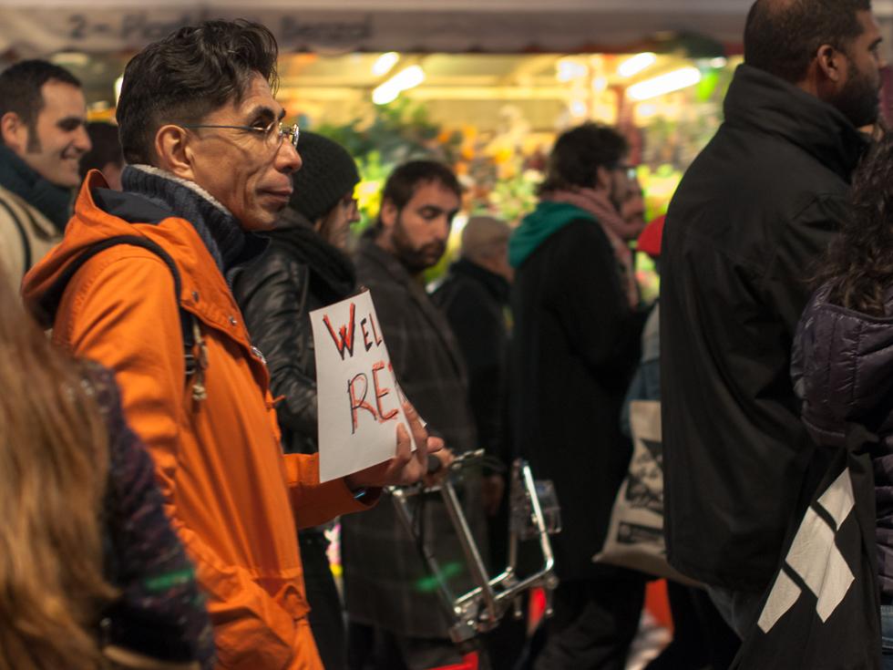 Barecelona - welcom refugees - Demonstration