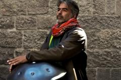 Barcelona - Musiker mit Klangschalen