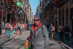 Barcelona - belebte Seitengasse