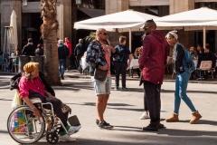 Barcelona - eine Rollstuhlfahrerin