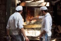 Barcelona - offenes Grill auf der Straße