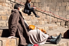Barcelona - schlafender Hund